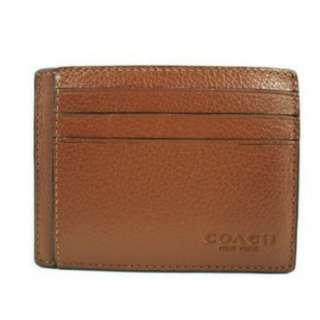 Coach Sport Calf Leather ID Card/Wallet