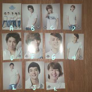 Shinee Smtown Live Official Postcards