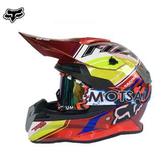 ★READY STOCK SIZE L RED ★ FOX ★ FREE GOGGLES ★ FULL FACE ★ MOTORCYCLE ★ HELMET ★OFF ROAD ★ MOTOCROSS ★ E-SCOOTER ★ E-BIKE ★ DIRT BIKE★DOWNHILL ★ BIKE ★ SKATE SCOOTER ★CYCLING RIDING ★NEW ARRIVALS