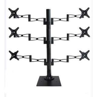 "6 Arms TV or Monitor floor Stand for displays up to 27"" whatsapp:8778 1601"