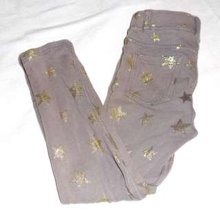 Charity Sale! Authentic H&M Size 3-4Y Girl's Stretch Pants With Sparkly Stars