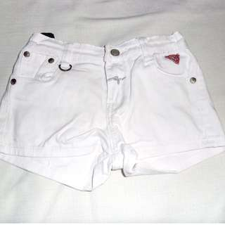 Charity Sale! Authentic Guess Girl's White Denim Shorts Size 8Y