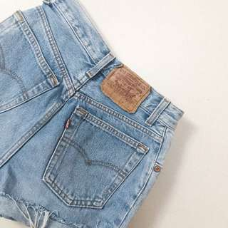 Levi's vintage high waist denim shorts