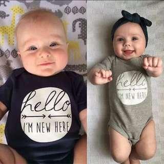 Newborn Baby Boy Girl Romper Bodysuit