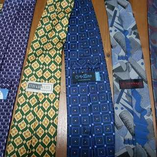 Branded pure silk neckties