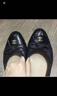 Authentic Chanel flat shoes