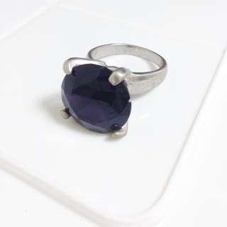 超大紫色鑽戒鑰匙圈
