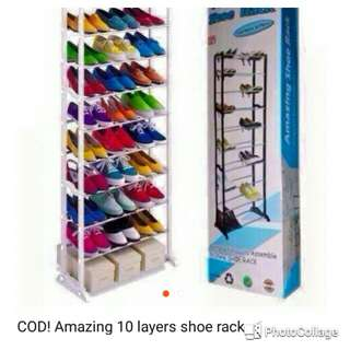 Ten layer shoe rack