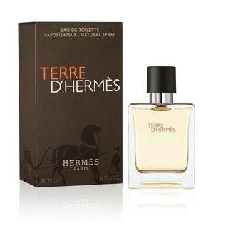🚚 HERMES 愛馬仕 TERRE D HERMES 大地 男性淡香水