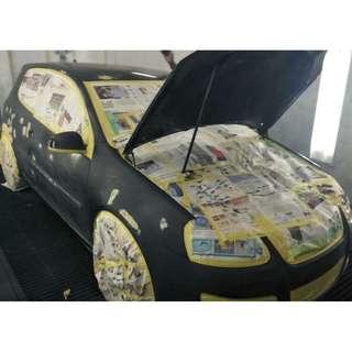 SPRAY PAINTING CAR @ CARS & VANS