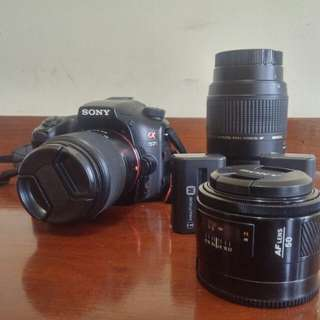 Sony A57 with 3 Lenses