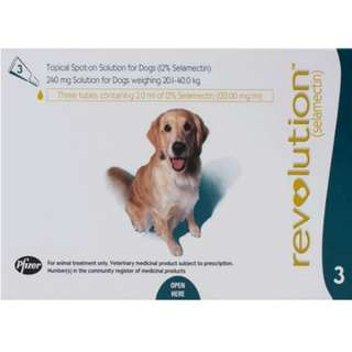 SALE! Revolution Flea & Tick 3s for Dogs 20.1-40 kg