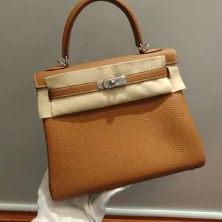 Hermes kelly 25 c stamp gold