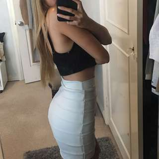 Kookai Bandage Mini Skirt - Light Grey