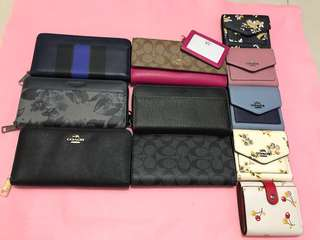 (20/3/18)Ready Stock Coach Wallet Purse Pouch handbag wristlets kate Spade Tory Burch guess