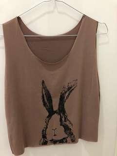 Rabbit crop top