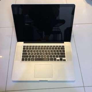 MacBook Pro 15 inch Late 2011