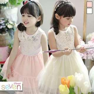 Casual dress for kids ↪Yellow/Pink↩