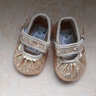 Golden Baby Shoes