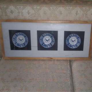 VOC Saucers Framed