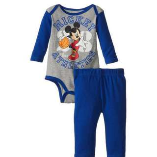 ❤Special Offer ❤ (Nett Price) Mickey Blue Long Sleeve Romper + Pant Set