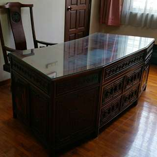 Rosewood Executive Desk with Chair