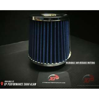 "SIMOTA AIR FILTER 3"" CHORME TOP & BOTTOM"