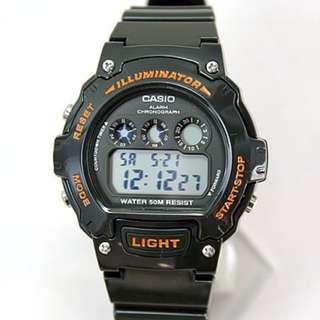 全新CASIO W-214HC-3A電子手錶 日版