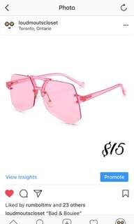 Brand New Pink Sun Glasses