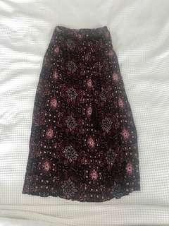 Supré printed maxi skirt