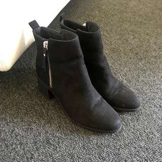 As new H&M zip up boots