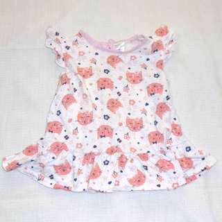 Charity Sale! Authentic Tiny Little Wonders Baby Girl Animal Print Top Size 18-24 Months