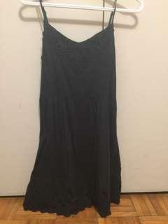 Dark blue flowy dress