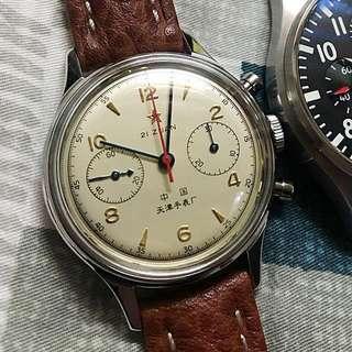 Seagull 1963 天津海鷗 (連軍綠色錶帶)