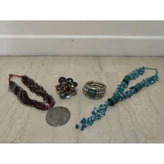 2 x Necklaces & 2 x Bracelets (All Brand New)