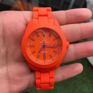 Toy watch velvety