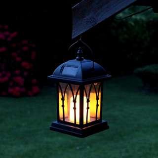 Decorative Solar Lamp - IP44 Rating, 600mAh, Candle Effect, Warm Yellow LED, Intelligent Light Control (CVAIA-LT421)