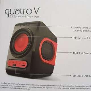 QuatriV 2.1 System with super bass