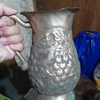 Old Brass Decorative Pitcher