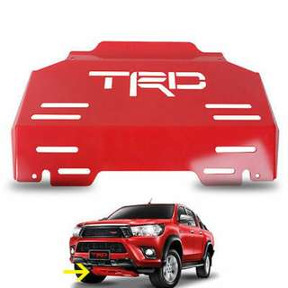 TRD Red Steel Front Engine Bash Plate Sump Guard (Revo)