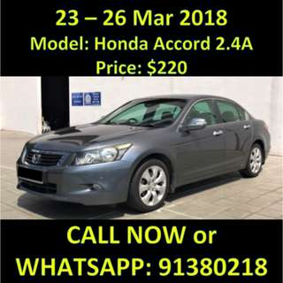 Honda Accord 2.4A March Weekend Sale