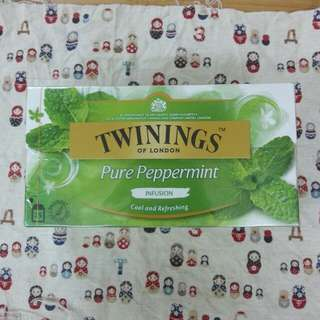 全新 Twinings pure peppermint 茶包一盒