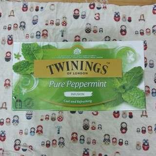 全新 Twinings pure peppermint 茶包一盒