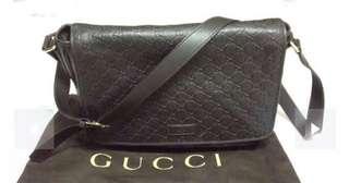 Gucci Black Guccisima Messenger Bag