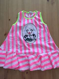 Stripe pink Lady Dress