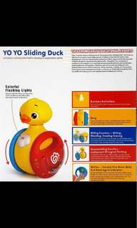 Brand new toy - Yoyo Sliding Duck (discounted price shown)!