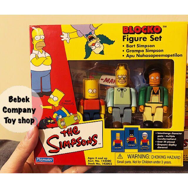 第1組》2002年 Playmates Blocko The Simpsons 辛普森家庭 辛普森 全新盒裝 絕版玩具