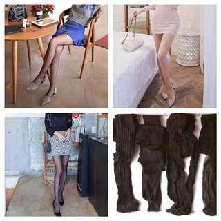 全部 絲襪4雙 黑色、膚色 柔撫滑順 透光澤 OL 夜店風 透明 透膚 內搭 性感絲襪