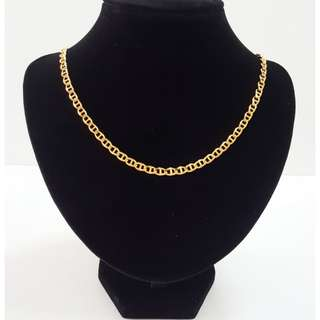 Gold plating pattern long chain.