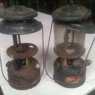Old Coleman Gas Lamps